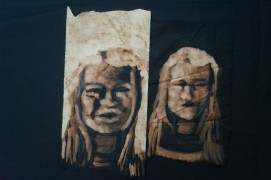 Portraits, 30x40 cm, chlorine on black cloth